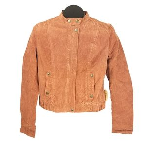 NWT I love H81 Rust Suede Jacket Size M